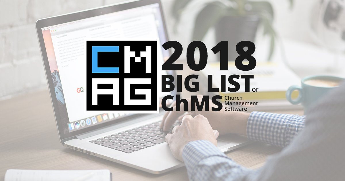 The 2018 Big List of Church Management Software