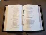 ESV Preaching Bible laid out flat open