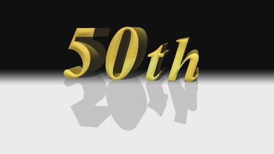 50th anniversary Gold Christian Animated Still A professional animated intro that's stops on a still image without continuous movements distraction