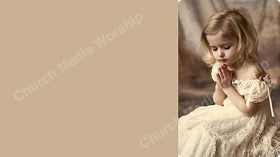 A Little Girl Praying Skintone Christian Worship Background. High quality worship images for use to spread the Gospel and enhance the worship experience.