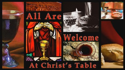 All are welcome Christian Animated Still A professional animated intro that's stops on a still image without continuous movements distraction