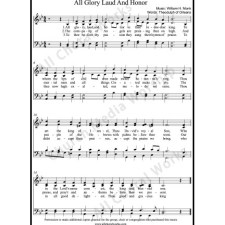 All glory laud and honor Sheet Music (SATB) with Practice Music tracks. Make unlimited copies of sheet music and the practice music.