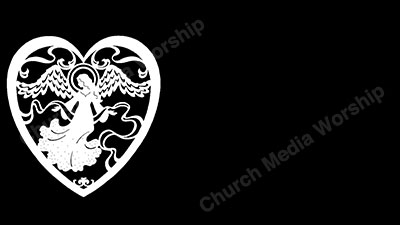 Angel of Love Black and White Christian Worship Background. High quality worship images for use to spread the Gospel and enhance the worship experience.