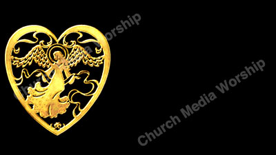 Angel of Love Gold Christian Worship Background. High quality worship images for use to spread the Gospel and enhance the worship experience.