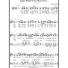 Angry Words O Let Them Never Sheet Music (SATB) with Practice Music tracks. Make unlimited copies of sheet music and the practice music.