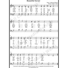 Beautiful Savior Sheet Music (SATB) with Practice Music tracks. Make unlimited copies of sheet music and the practice music.