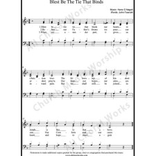 Blest be the tie that binds Sheet Music (SATB) with Practice Music tracks. Make unlimited copies of sheet music and the practice music.