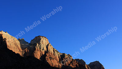 Deep blue sky Christian Worship Background. High quality worship images for use to spread the Gospel and enhance the worship experience.