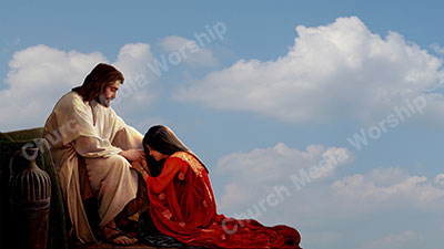 Forgiven Christian Worship Background. High quality worship images for use to spread the Gospel and enhance the worship experience.