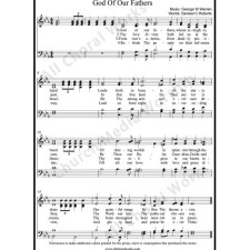God of our fathers Sheet Music (SATB) with Practice Music tracks. Make unlimited copies of sheet music and the practice music.