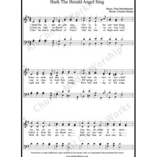 Hark The Herald Angel Sing Sheet Music (SATB) with Practice Music tracks. Make unlimited copies of sheet music and the practice music.