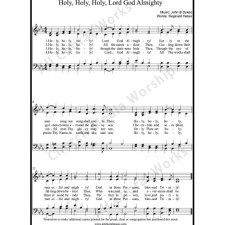Holy, Holy, Holy Lord God Almighty Sheet Music (SATB) with Practice Music tracks. Make unlimited copies of sheet music and the practice music.