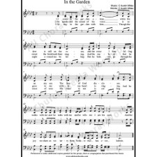 In The Garden Sheet Music (SATB) with Practice Music tracks. Make unlimited copies of sheet music and the practice music.