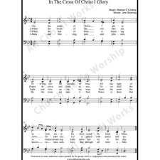 In the cross of Christ I glory Sheet Music (SATB) with Practice Music tracks. Make unlimited copies of sheet music and the practice music.