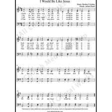 I would be like Jesus Sheet Music (SATB) with Practice Music tracks. Make unlimited copies of sheet music and the practice music.