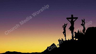 jesus cross silhouette to