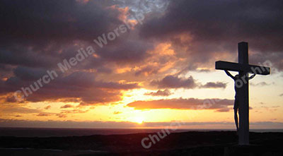 Jesus Cross Sunset Christian Worship Background. High quality worship images for use to spread the Gospel and enhance the worship experience.