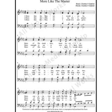 More Like the Master Sheet Music (SATB) with Practice Music tracks. Make unlimited copies of sheet music and the practice music.