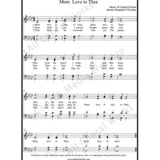 More Love To Thee Sheet Music (SATB) with Practice Music tracks. Make unlimited copies of sheet music and the practice music.
