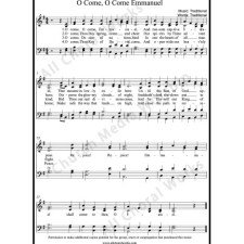 O Come O Come Emmanuel Sheet Music (SATB) with Practice Music tracks. Make unlimited copies of sheet music and the practice music.