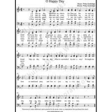 O happy day Sheet Music (SATB) with Practice Music tracks. Make unlimited copies of sheet music and the practice music.