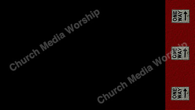 One Way arrows Black Red Christian Worship Background. High quality worship images for use to spread the Gospel and enhance the worship experience.