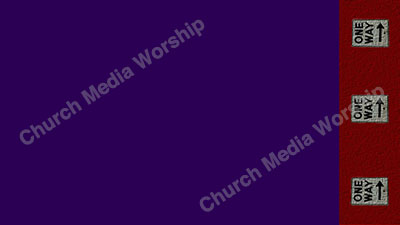 One Way arrows Purple Red Christian Worship Background. High quality worship images for use to spread the Gospel and enhance the worship experience.