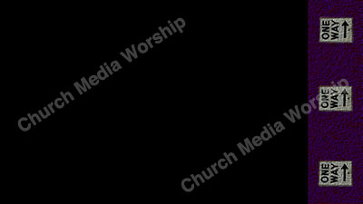 One Way arrows black purple Christian Worship Background. High quality worship images for use to spread the Gospel and enhance the worship experience.