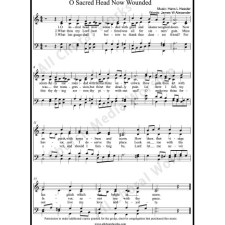 O sacred head now wounded Sheet Music (SATB) with Practice Music tracks. Make unlimited copies of sheet music and the practice music.