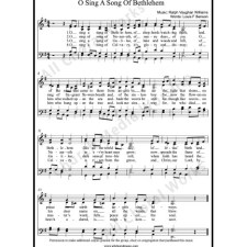 O sing a song of Bethlehem Sheet Music (SATB) with Practice Music tracks. Make unlimited copies of sheet music and the practice music.