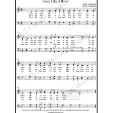 Peace like a river Sheet Music (SATB) with Practice Music tracks. Make unlimited copies of sheet music and the practice music.