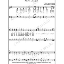 Revive us again Sheet Music (SATB) with Practice Music tracks. Make unlimited copies of sheet music and the practice music.