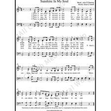 Sunshine in my soul Sheet Music (SATB) with Practice Music tracks. Make unlimited copies of sheet music and the practice music.