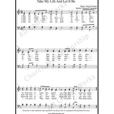 Take My Life And Let It Be Sheet Music (SATB) with Practice Music tracks. Make unlimited copies of sheet music and the practice music.