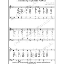 The Lord's my shepherd I'll not want Sheet Music (SATB) with Practice Music tracks. Make unlimited copies of sheet music and the practice music.