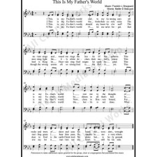 This Is My Father's World Sheet Music (SATB) with Practice Music tracks. Make unlimited copies of sheet music and the practice music. This Is My Father's World Sheet Music
