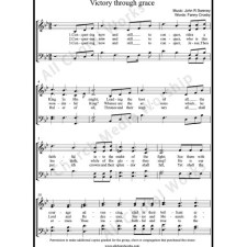 Victory through grace Sheet Music (SATB) with Practice Music tracks. Make unlimited copies of sheet music and the practice music.