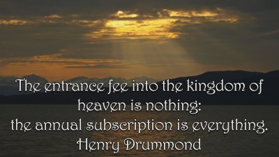 Henry Drummond Quote 2 Christian Animated Still A professional animated intro that's stops on a still image without continuous movements distraction