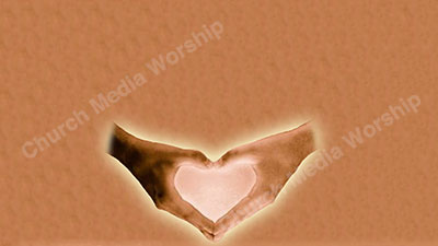 Heart shaped hands tan Christian Worship Background. High quality worship images for use to spread the Gospel and enhance the worship experience.