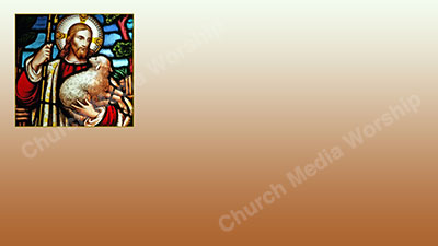The good shepherd V4 tan Christian Worship Background. High quality worship images for use to spread the Gospel and enhance the worship experience.