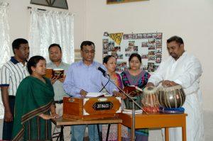 Musical performance led by Mr. Francis Bala