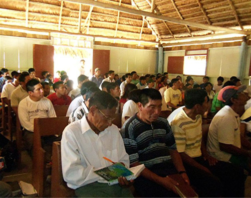 Pastors conference in a Peru jungle
