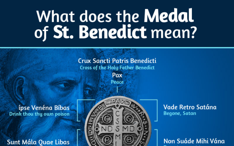 The Hidden Meaning of the St Benedict Medal In One Infographic  ChurchPOP