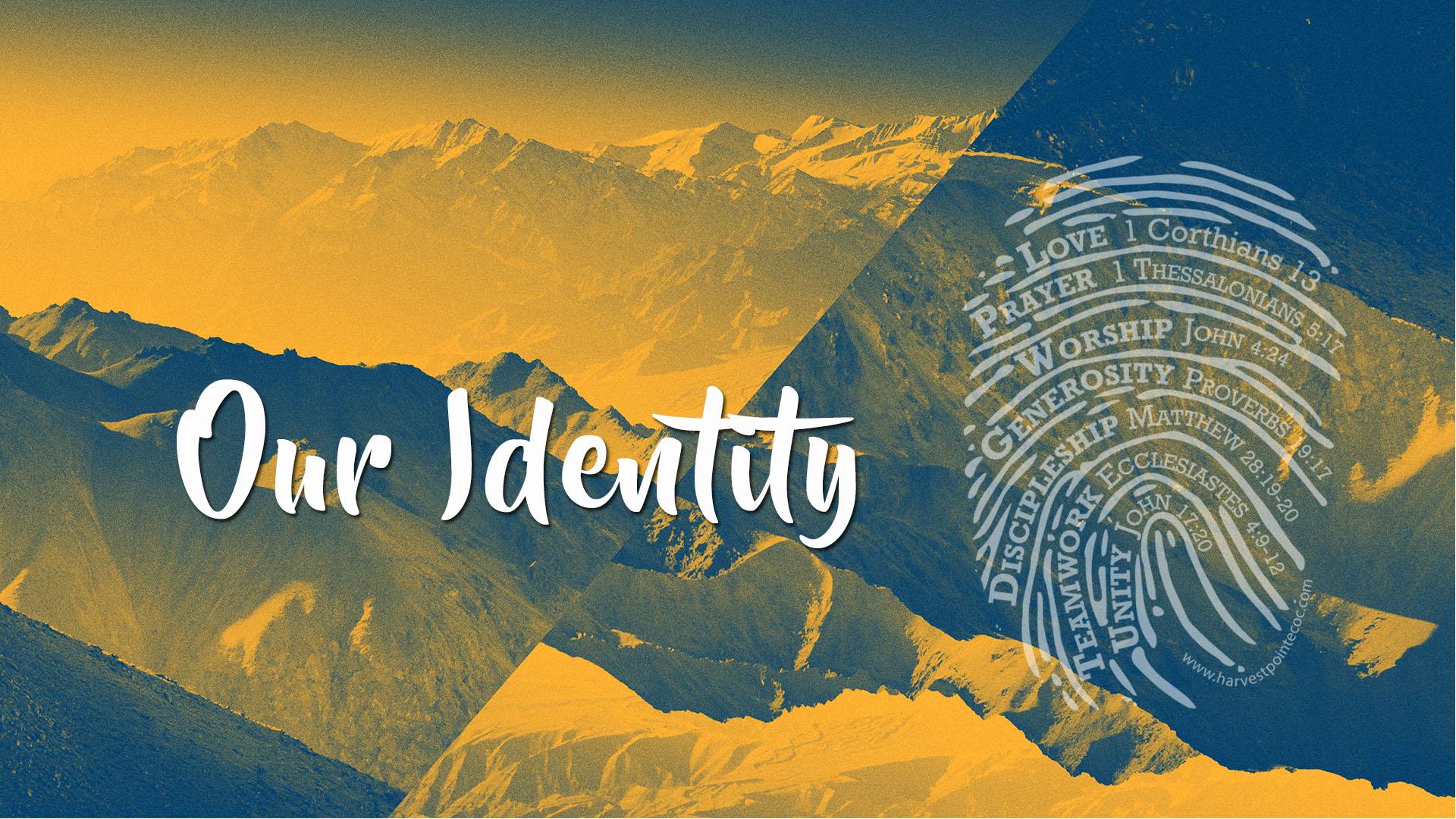 Our Identity  Church Sermon Series Ideas