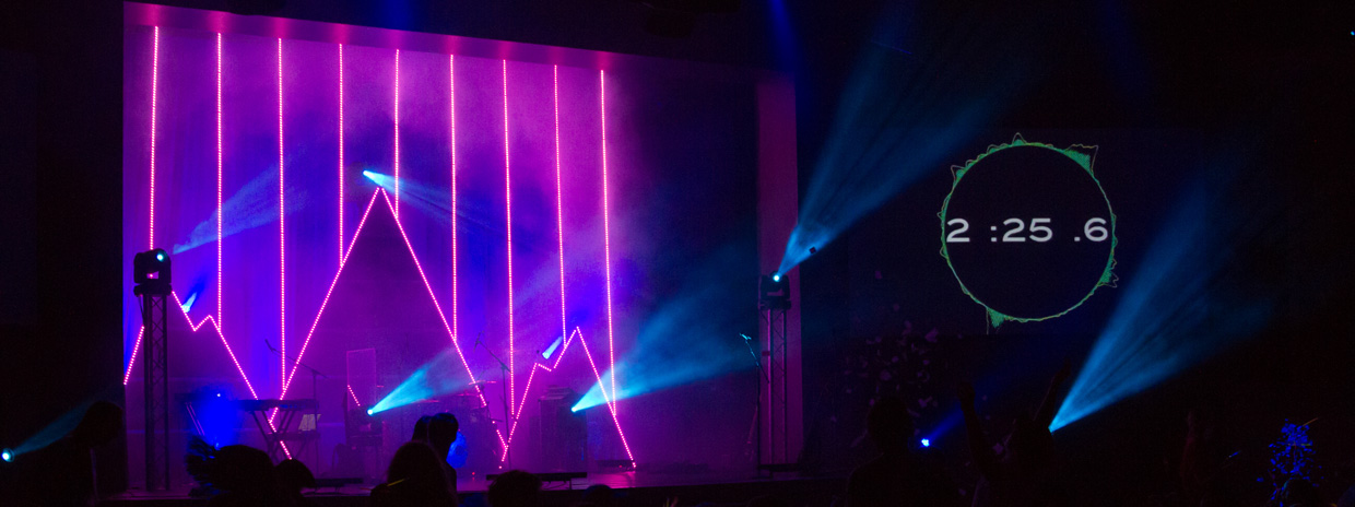 Lined Mountains  Church Stage Design Ideas