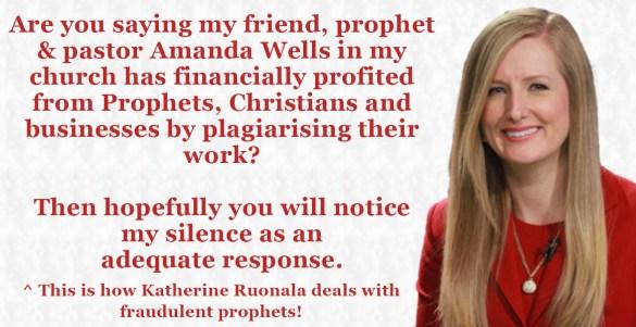 Katherine Ruonala silent over prophet Amanda Wells
