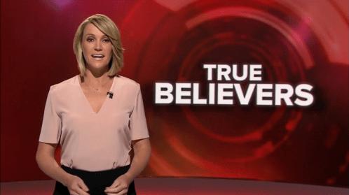 Leila McKinnon on Inside Story introducing shameful propaganda piece on Hillsong.