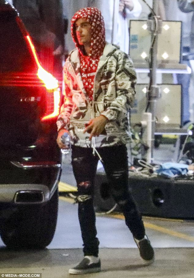 Justin Beiber hoodie at Hillsong Conference