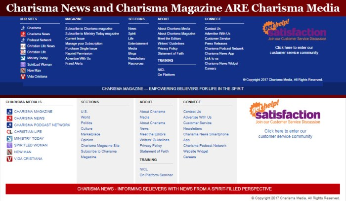 Charisma Media News Magazine Scam