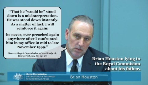 Brian Houston Lying to Royal Commission5